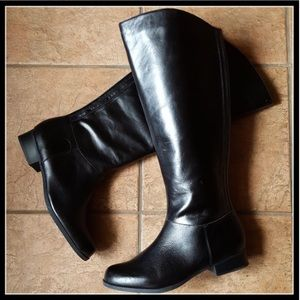 Black Leather Riding Boots NIB 11 Me Too